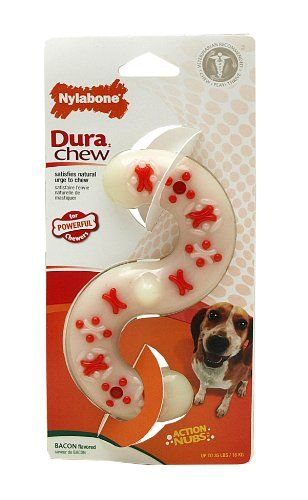 Nylabone Dura Chew Wolf Bacon Flavored S Bone Dog Chew Toy For