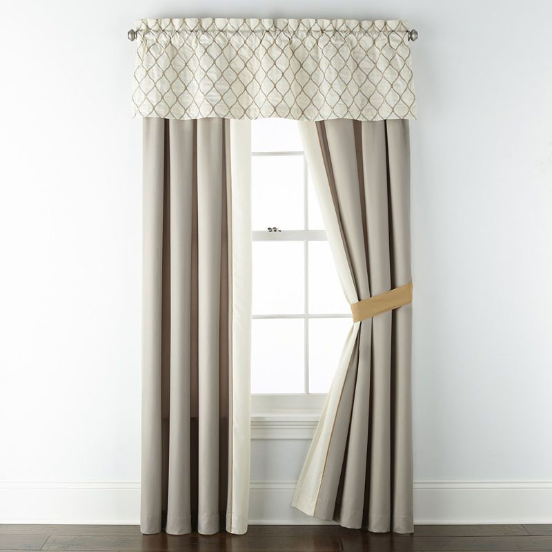 Jcpenney Home Carissa Light Filtering Rod Pocket Curtain Panel