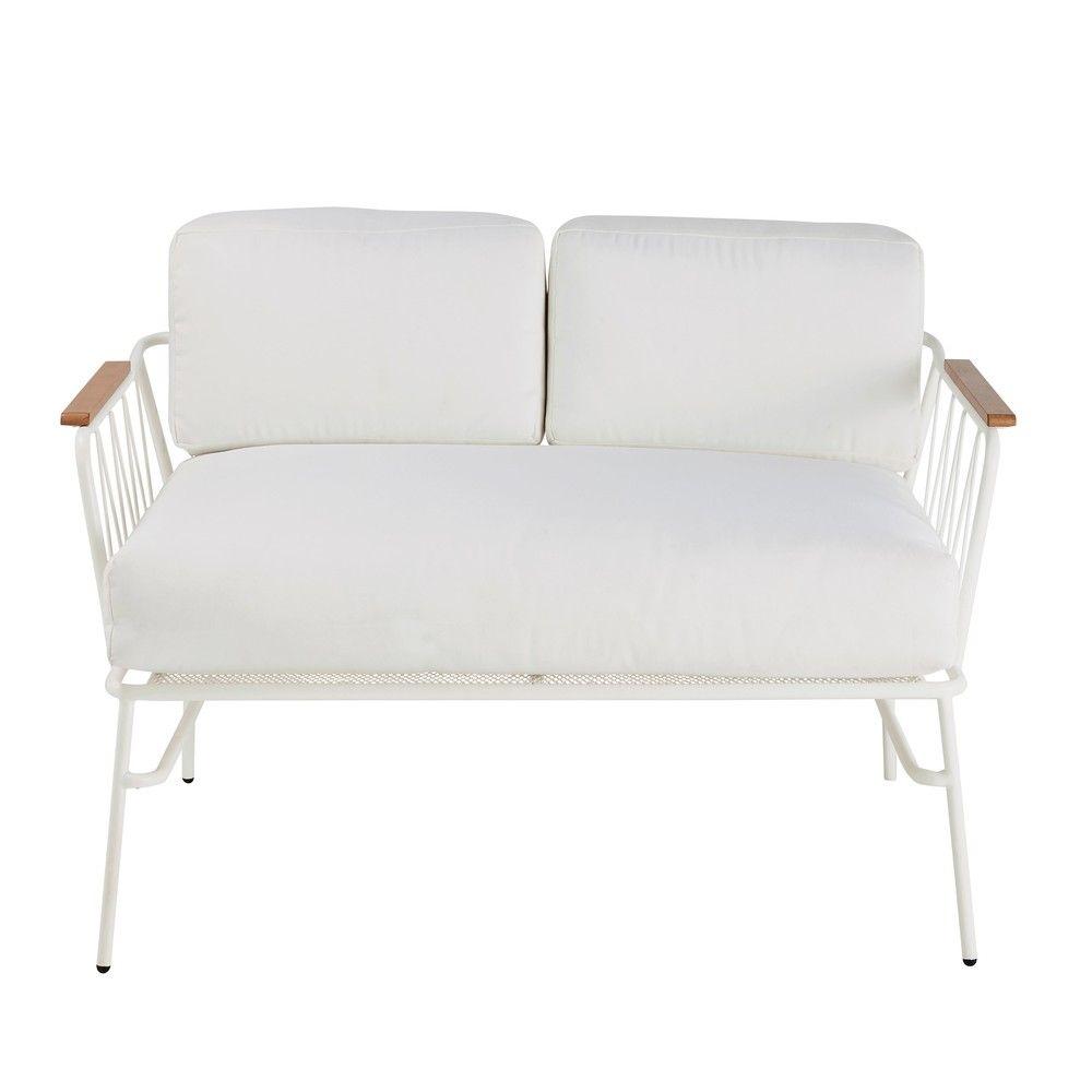 2-Sitzer-Gartensofa aus Metall, weiß | Gartensofa, Loungemöbel ...