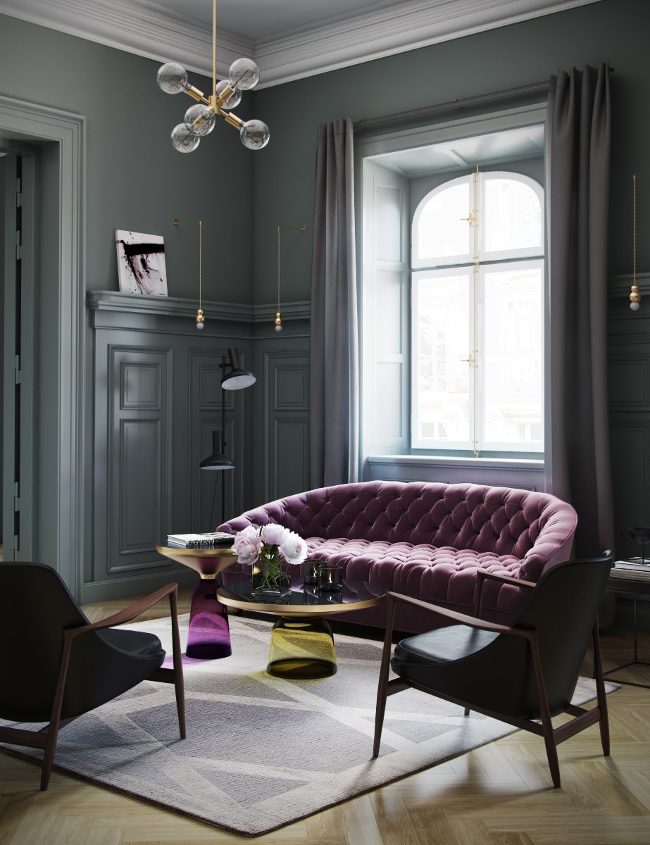 Modern Classic Living Room Interior Design: Classic Interior On Behance … (с изображениями)