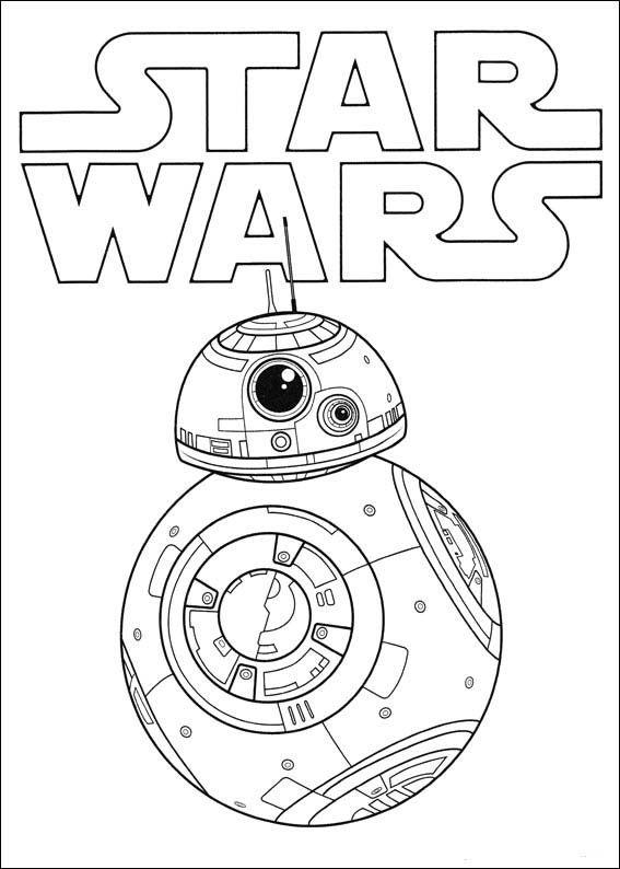 Dibujos para imprimir y colorear para niños Star Wars El despertar ...
