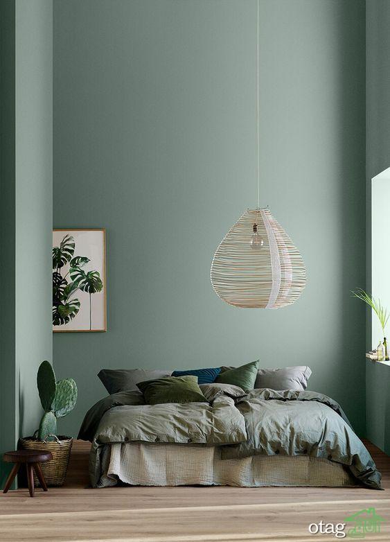 Epingle Par Katie Sanchez Sur Architecture Interior Inspiration En 2020 Avec Images Idee Couleur Chambre Peinture Verte Sauge Vert Chambre