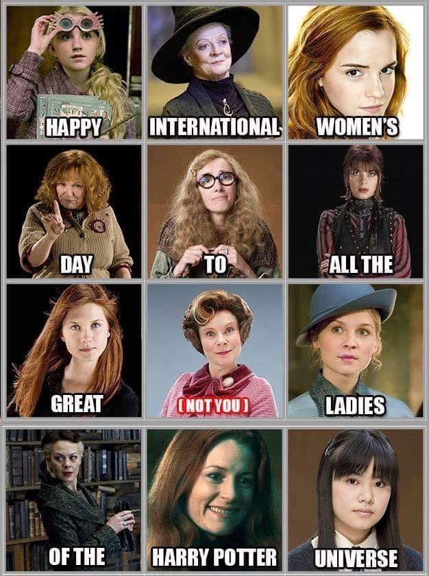 Harry Potter International Woman S Day Harry Potter Puns Funny Harry Potter Jokes Harry Potter Girl