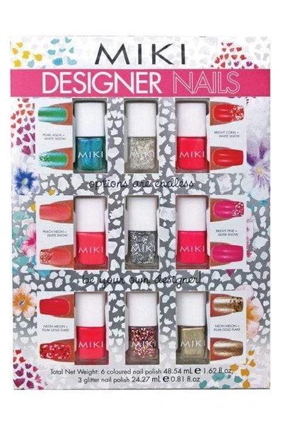 Miki Designer Nails set (6 nail polishes) with glitter