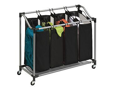 Laundry Sorter 4 Compartment Laundry Carts With Images