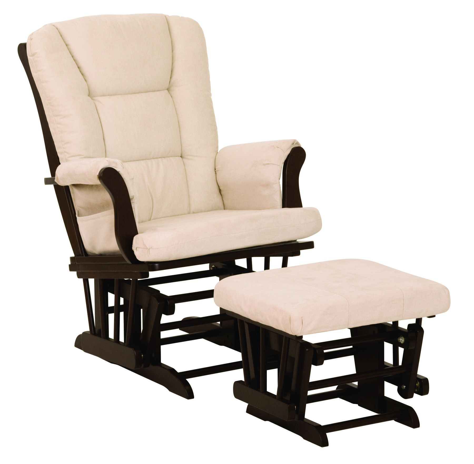A glider and ottoman set Glider and ottoman, Glider