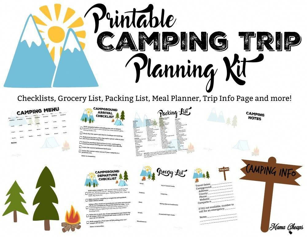Free Printable Camping Trip Planning Kit Mama Cheaps
