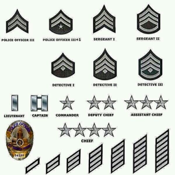Lapd Ranks And Years Of Service Los Angeles Police Department Police Badge Police
