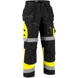 "Photo of Blakläder® unisex high visibility protective pants ""X1500"" black size 94"