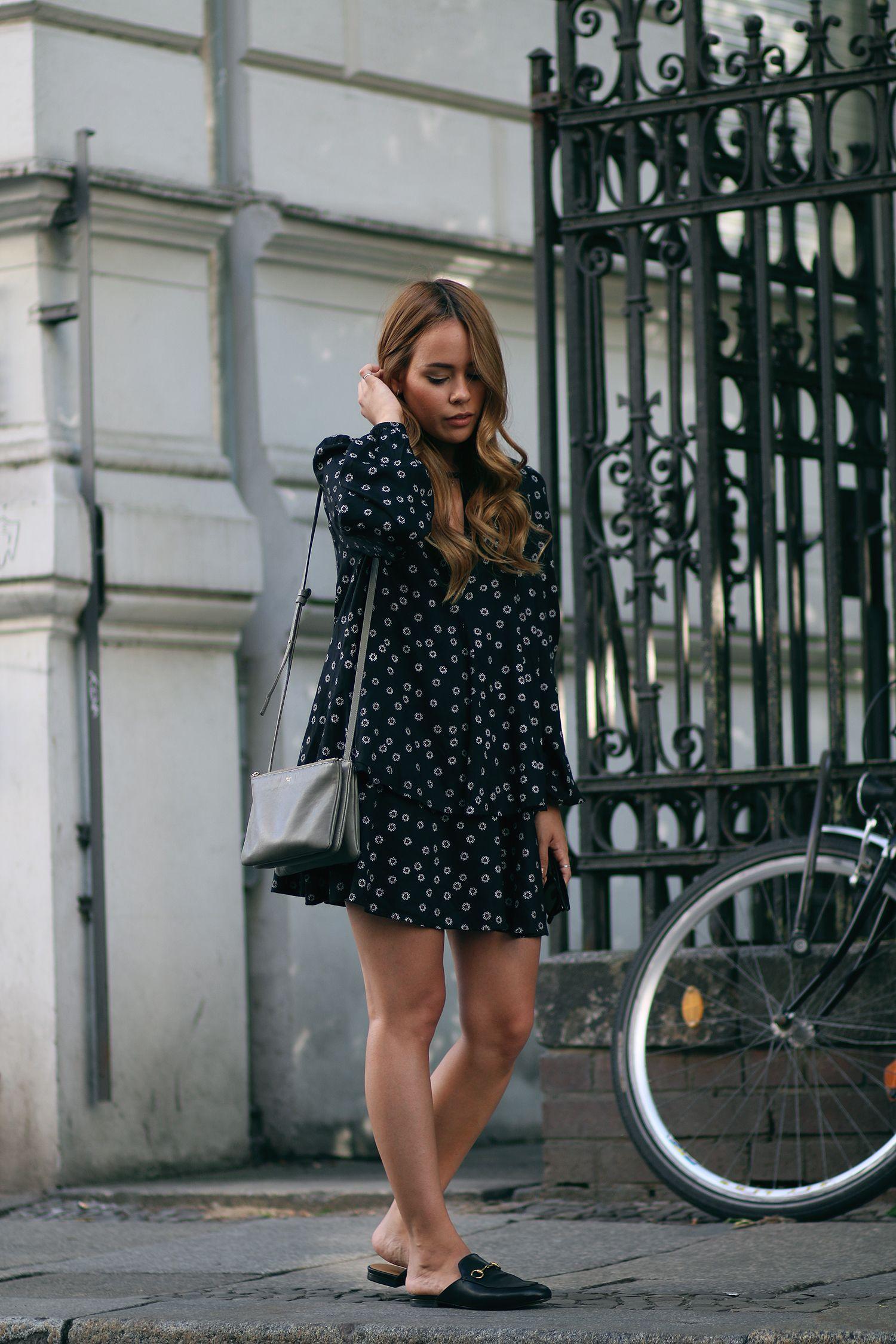 Outfit Gucci Slipper u0026 Flower Dress   cute clothes   Pinterest   Ray ban wayfarer sunglasses ...
