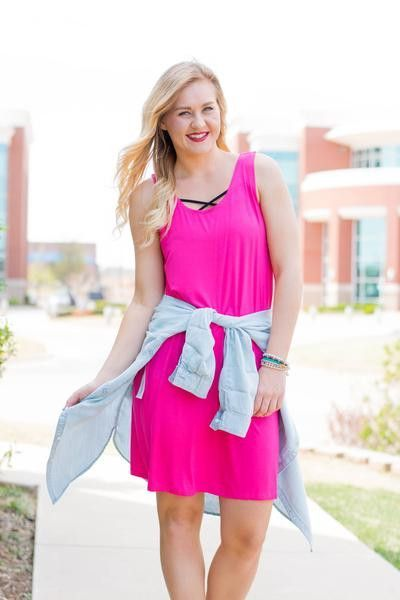 Piko tank dress. A best seller is back in stock in new colors! If you like the feel of our piko tops and tunics you will love this tank dress! We love these layered over our sweetheart strappy front b
