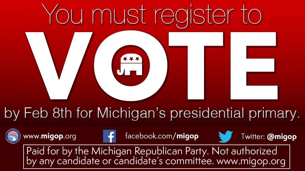 Want to vote in the Michigan Presidential Primary on March
