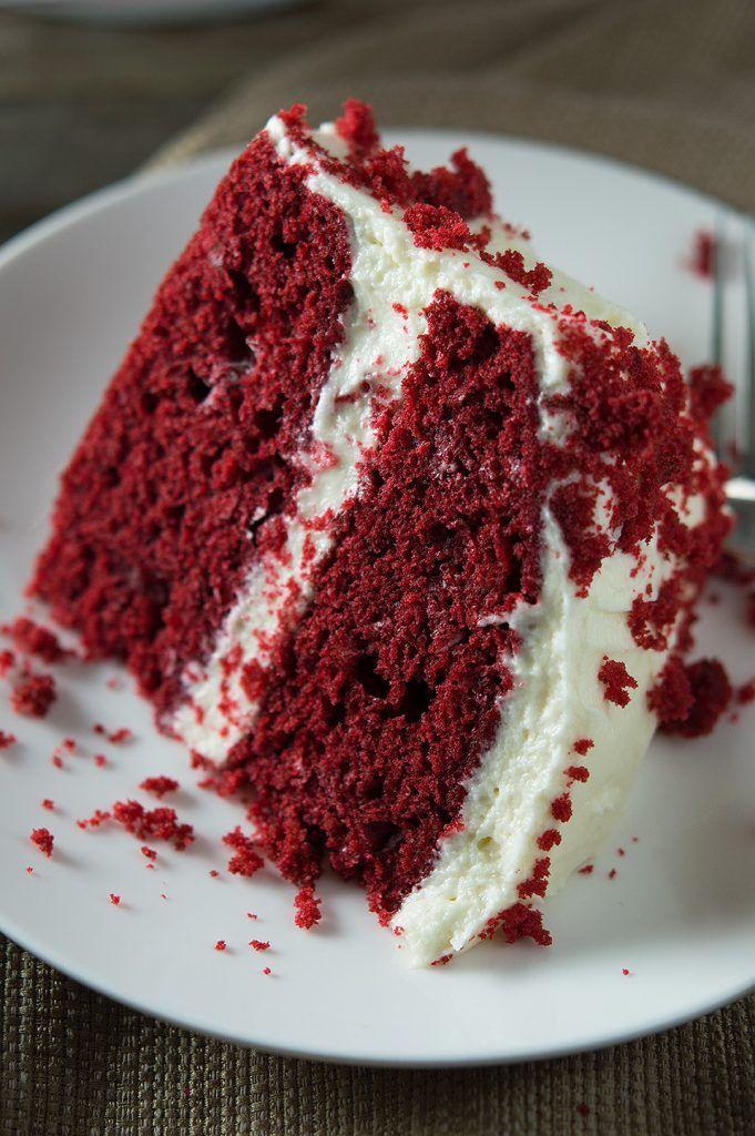Moist Red Velvet Cake And Whipped Cream Cheese Frosting Cake Recipes Velvet Cake Red Velvet Cake