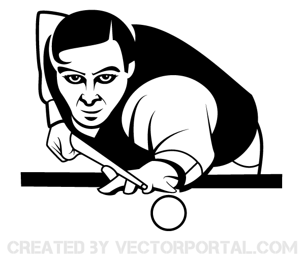 Snooker Player Vector Image Free Vector Art Art Vector Images