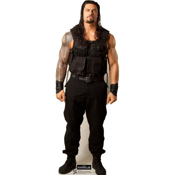 Life-size cardboard standup of Roman Reigns - WWE. This standup is ...