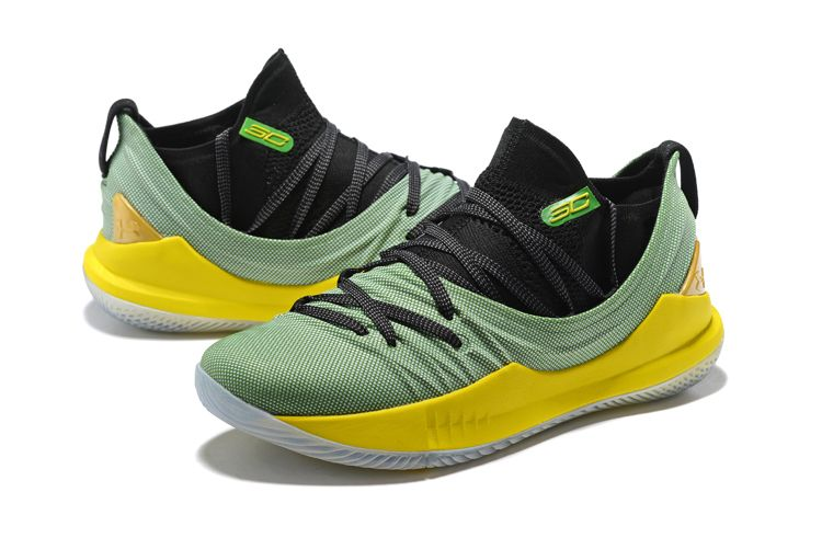 Under Armour Curry 5 Low Black Green