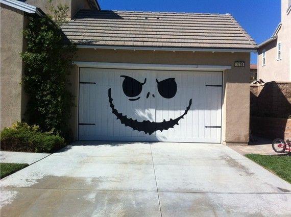 garage decal for Halloween