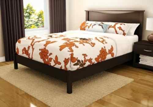 Best New Brown Espresso Finish Platform Queen Size Bed No Box 400 x 300