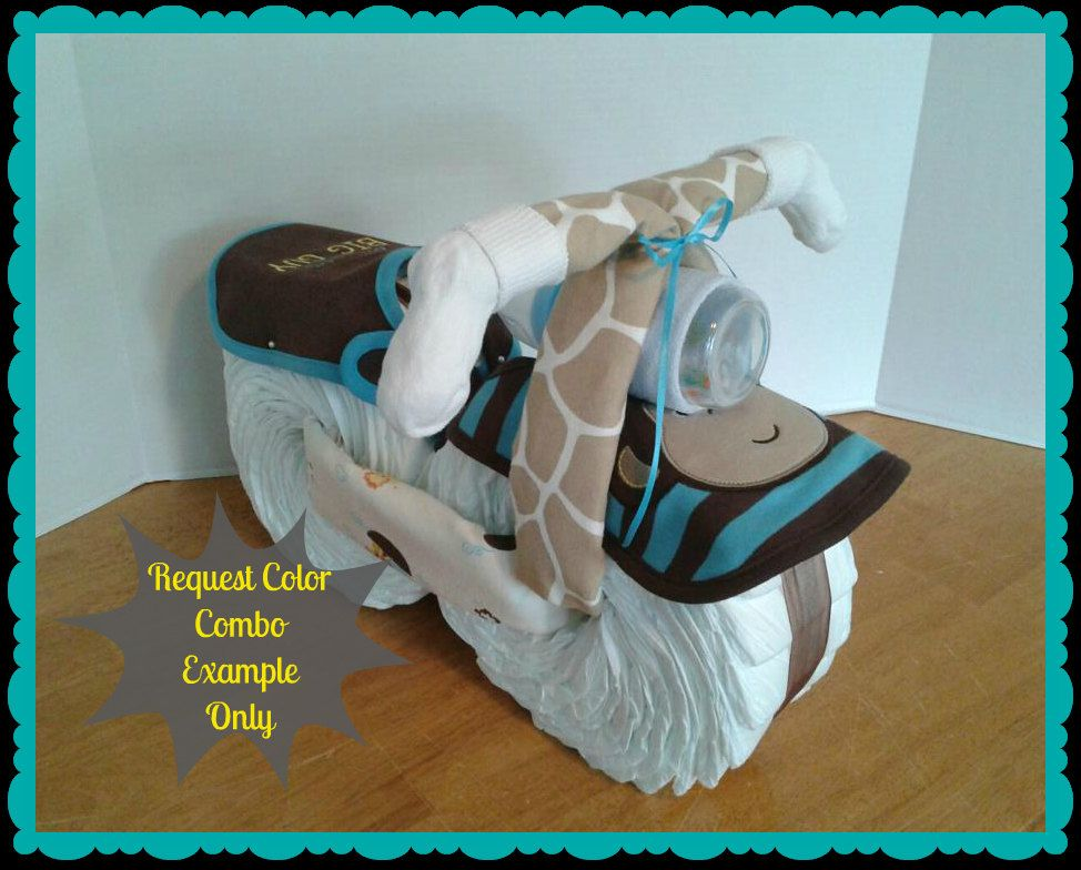 diaper cake  diaper motorcycle  baby shower gift  boy  baby, Baby shower invitation