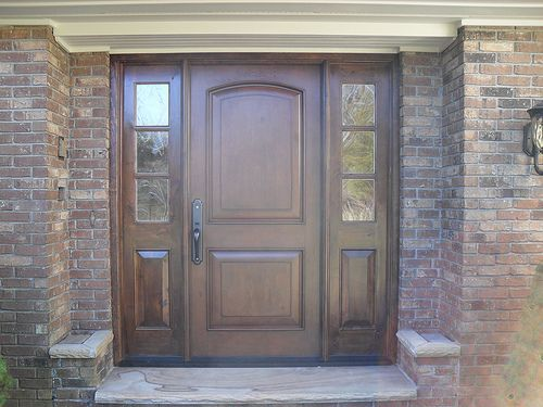 The beauty of jeld wen fiberglass entry doors entry ways for Fiberglass entry doors with sidelights