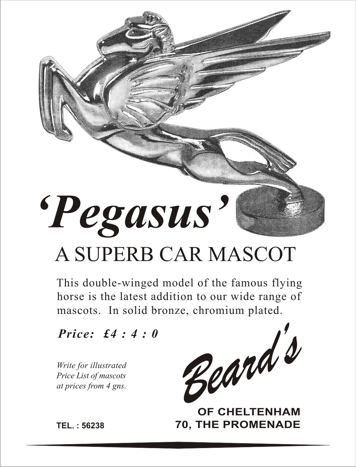 Beard S Of Cheltenham Pegasus Mascot Advert
