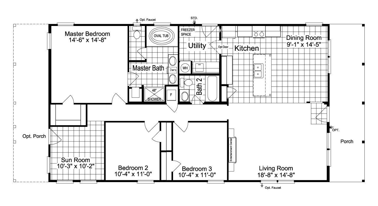 Alternative 30 Wide Floor Plan The Great Escape 30603g Floor Plan Floor Plans Manufactured Homes Floor Plans Modular Floor Plans
