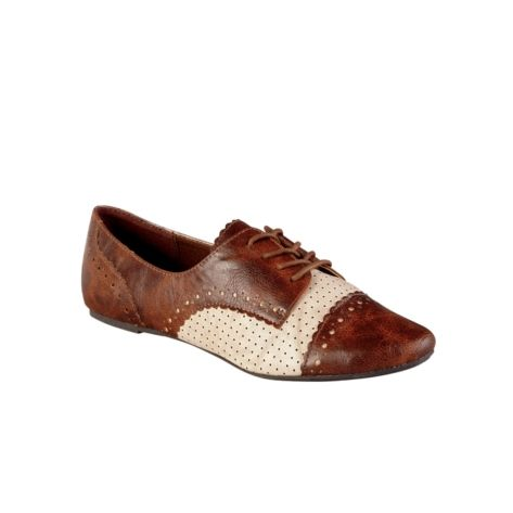 12010063108bb Womens Not Rated Jazzibel 2 Oxford Casual Shoe - Tan/Cream ...
