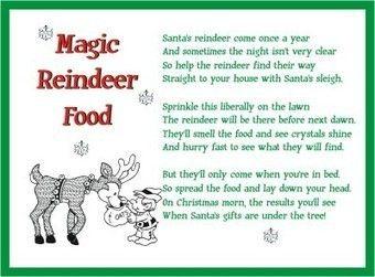 Magic reindeer food story printable reindeer food poem christmas magic reindeer food story printable reindeer food poem christmas letter tips spiritdancerdesigns Image collections