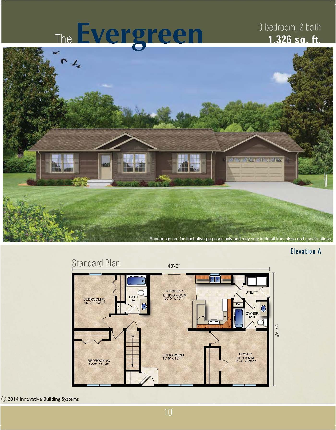 The Evergreen Ranch Plan House Blueprints Dream House Plans House Layouts