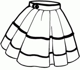 Skirt Coloring Page Boyama Sayfalari Okul Oncesi Elbise