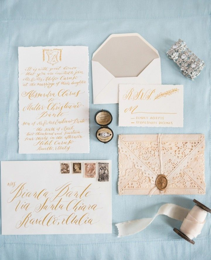 Gold Coast Wedding Invitations: Italian Luxury: Amalfi Coast Wedding Inspiration At Hotel