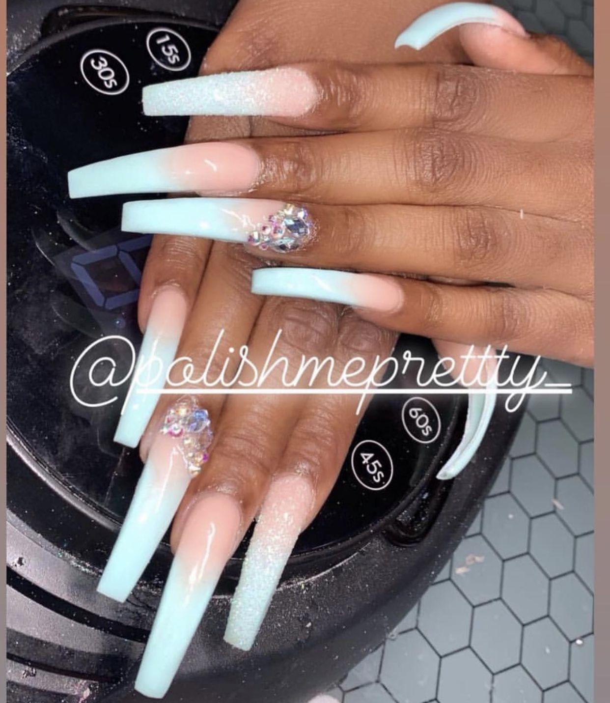 Miilknhoney With Images Long Acrylic Nails Makeup Nails Long Nail Designs