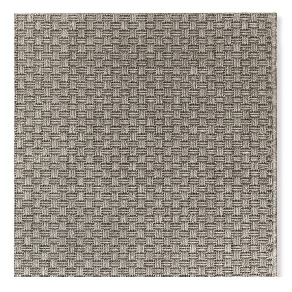 Faux Natural Basketweave Indoor Outdoor Rug 8x10 Brown Gray In