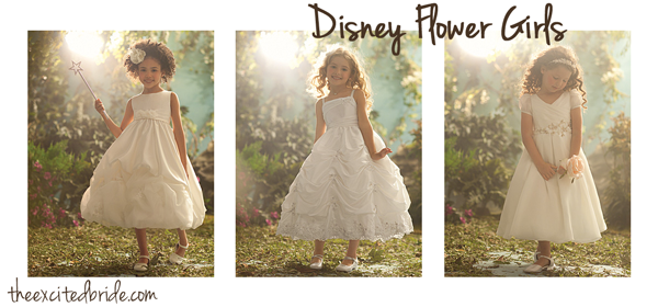 Disney Alfred Angelo Flower Dresses From Theexcitedbride