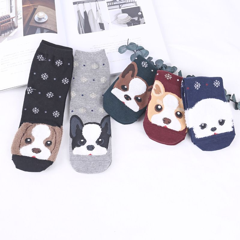 Dog Picture Socks Free Shipping