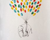 Reserved for jessselby1, Custom Couple Thumbprint Balloon