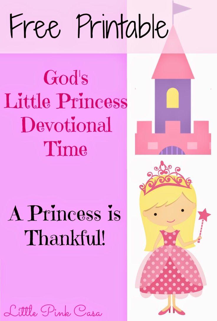 Free God S Little Princess Devotional Printables Bible Lessons Thanksgiving Bible Lesson Bible For Kids