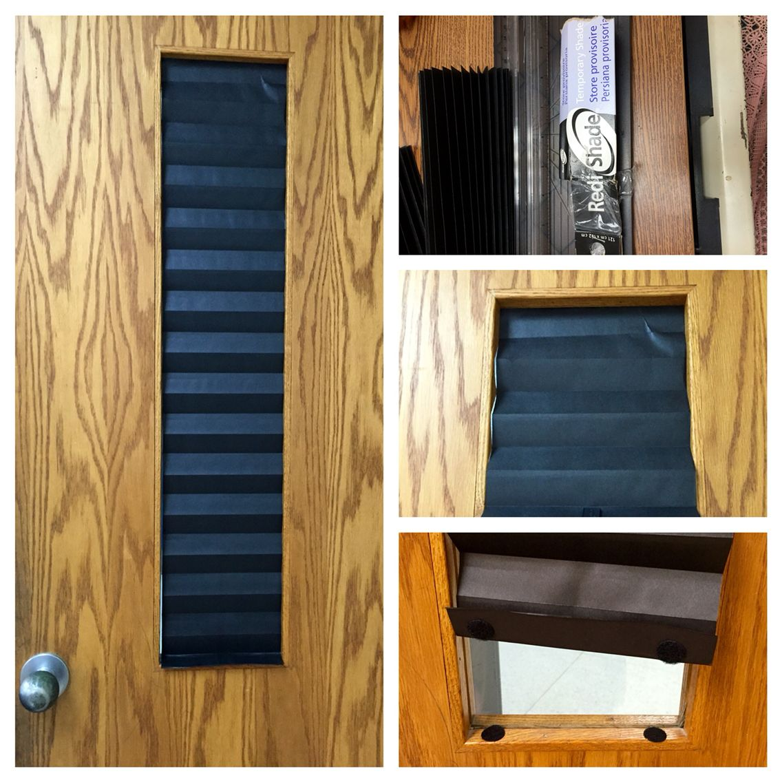 Lockdown Door Window Shade That You Can Have Up With A