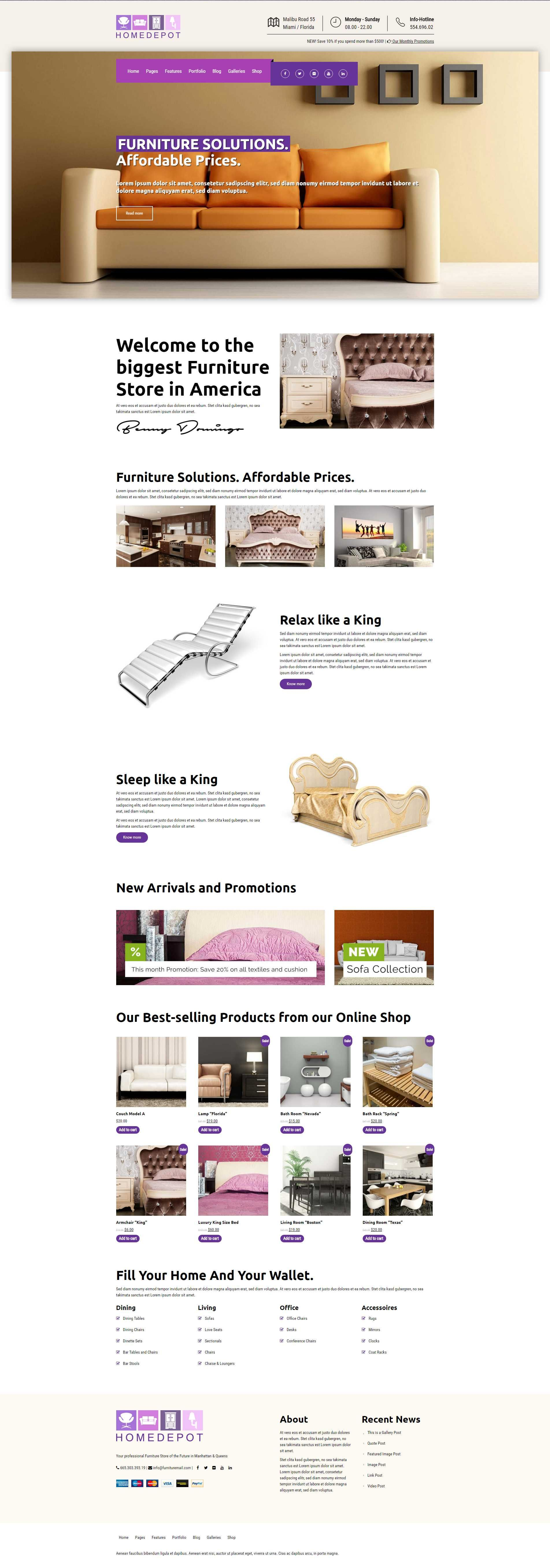 Homedepot   Furniture Store WordPress Theme