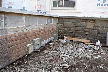 Can Stone Veneer Be Installed Over Brick Stone Veneer Fireplace