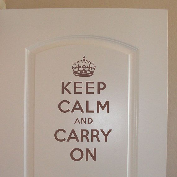KEEP CALM and Carry On 20x145 wall decal vinyl by LivelyLettering, $10.99