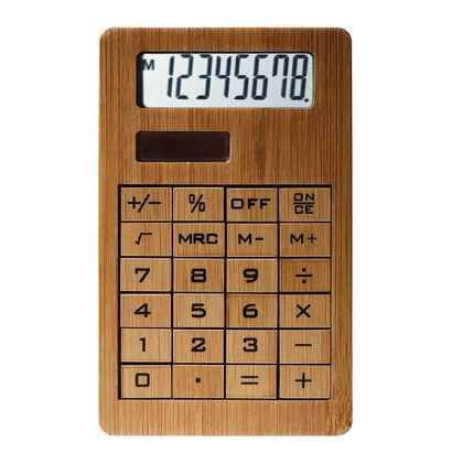 Calculatrice solaire en bambou - Neuf et d'occasion - PriceMinister