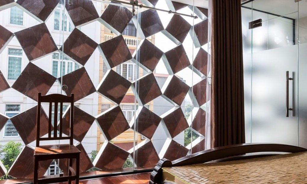 Innovative Recycled Ceramic Bricks Keep This Hanoi Houses Interior