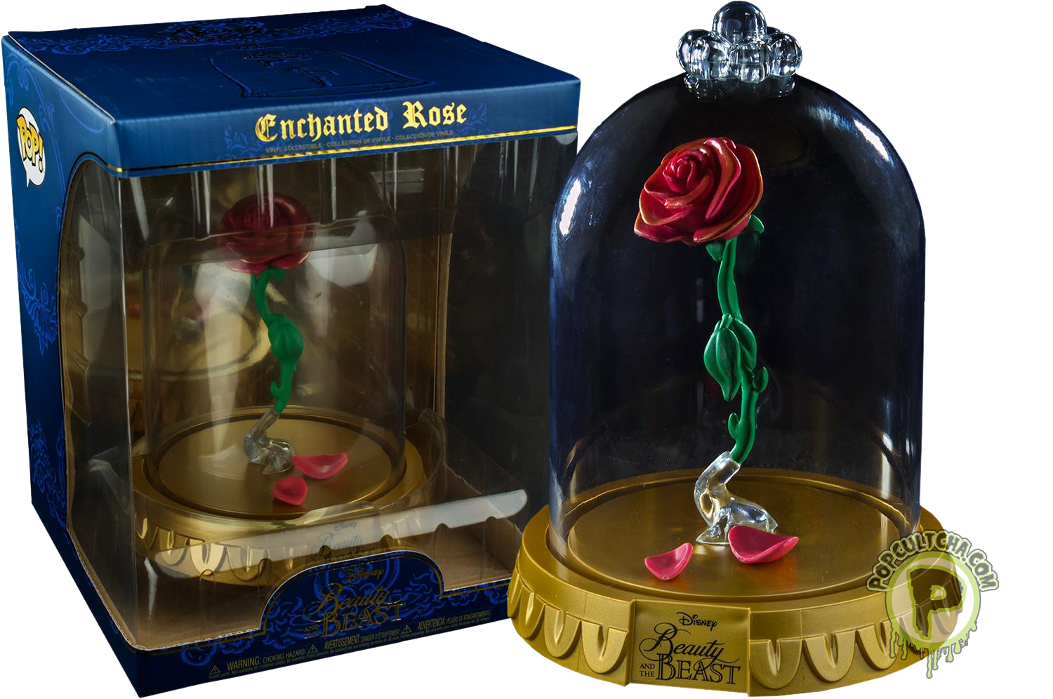 Beauty and the Beast Enchanted Rose in Dome Pop! Vinyl