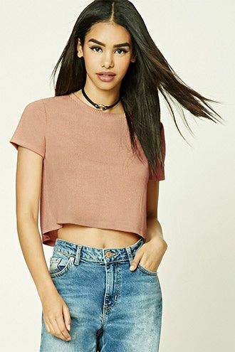 Marled Knit Crop Top   FOREVER21 - 2000230549