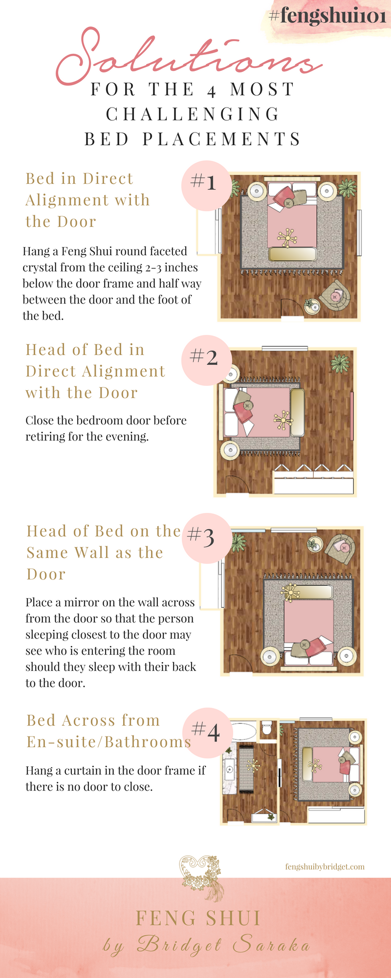 Solutions for the 11 Most Challenging Bed Placements - Feng Shui by