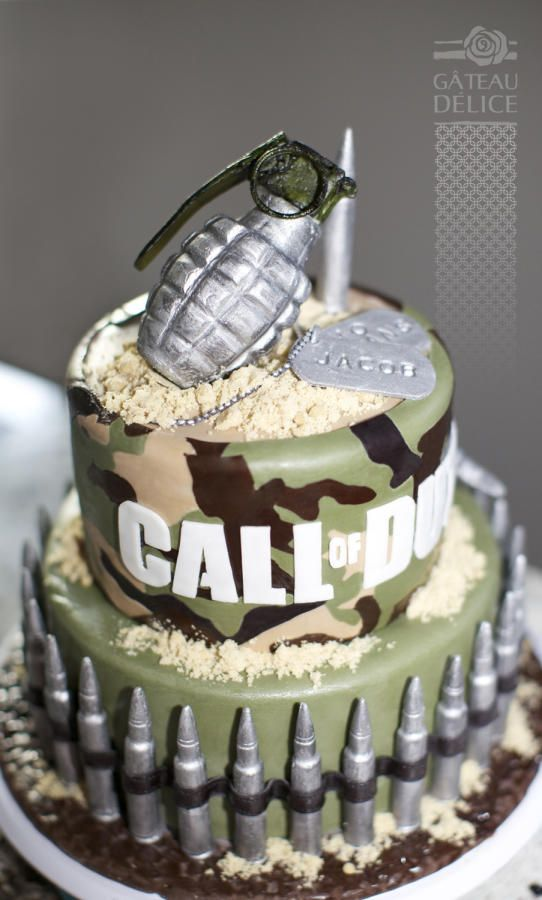 Superb Call Of Duty Cake Cake By Marie Josee Call Of Duty Cakes Funny Birthday Cards Online Inifodamsfinfo