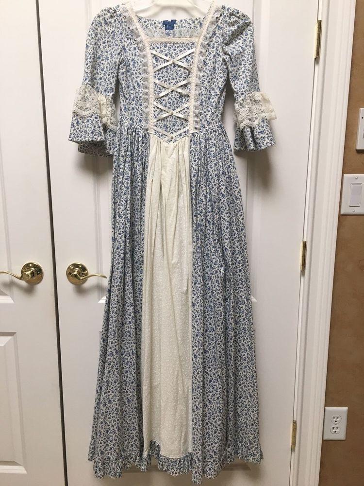 Colonial Williamsburg Historical Costume Girls Dress 8 10 12