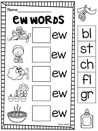 EW UE UI Worksheets & Activities {NO PREP!} | Language Ideas