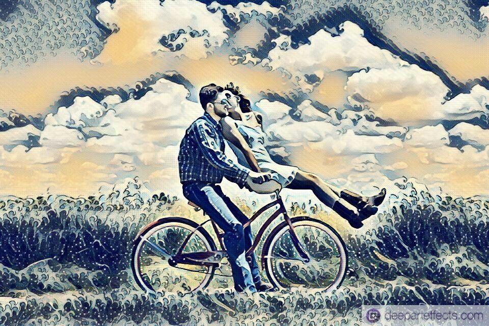 Turn photos into art with Deep Art Effects!   #couple #bike #happy #love #beautiful #followme #fahrrad #landscape #artificialintelligence #ai #künstlicheintelligenz #ki #lifestyle #artwork #kunstwerk #fotofilter #fotoeffekt #photofilter #photoeffect #prisma #prismacolor #dae #deeparteffects #deeplearning